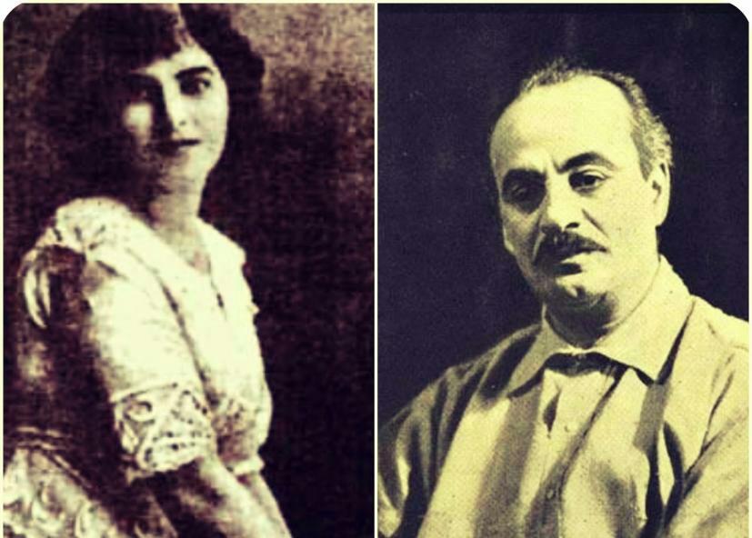 نتيجة بحث الصور عن جبران خليل جبران ومي زيادة